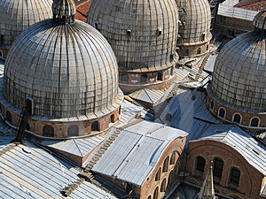 Basilica Di San Marco, Venice, Roofscape Free Stock Photos