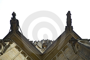Looking up at the prague castle Royalty Free Stock Photography