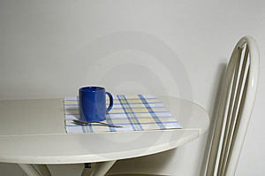 Chair and Coffee Royalty Free Stock Images