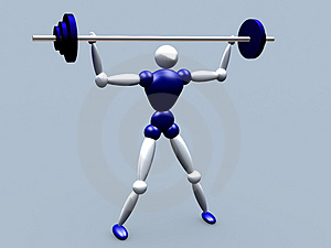 Weightlifter Vol 2 Stock Photo