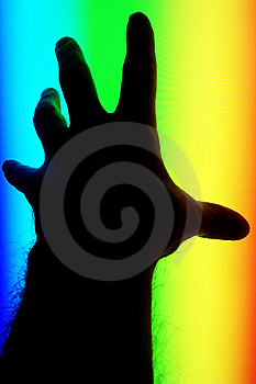 Hand In The Spectrum Stock Image