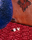 Diamond Earrings Stock Image