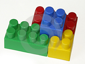 Connection Of Children's Cubes Royalty Free Stock Photo - Image: 2300155