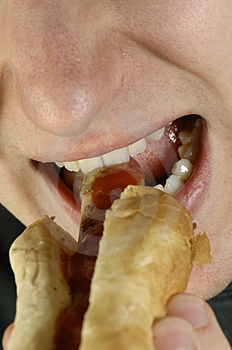 Hot-dog And Mouth Stock Photo - Image: 2303660