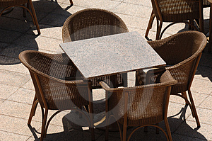 Empty Restaurant Table Stock Image - Image: 2304461