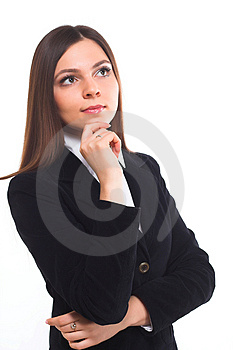 Satisfied businesswoman Stock Images