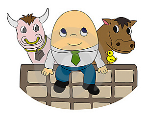 Humpty On Wall Royalty Free Stock Images - Image: 23000899