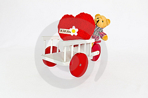 Red Heart And Bear Stock Photos - Image: 23007523