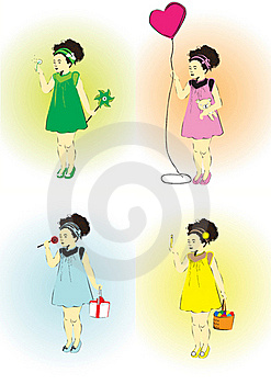 Little Girl On A Holiday Royalty Free Stock Photography - Image: 23008577