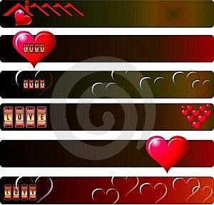 Love Banner Set Stock Photo - Image: 23010660