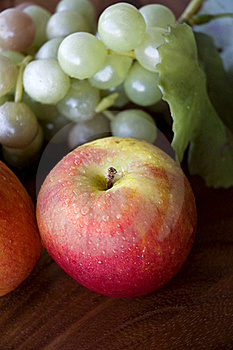 Red Apple With Grapes Stock Photo - Image: 23013370