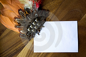 White Paper Note With Decoration Royalty Free Stock Photography - Image: 23013517