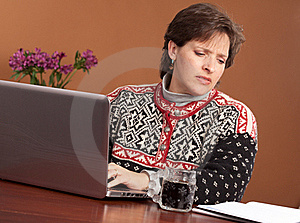 Work From Home Woman Stock Photos - Image: 23013633