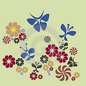 Flower And Butterfly Stock Image - Image: 23018421