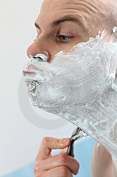 Face Shaving Stock Images - Image: 23018914