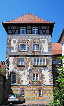 German House With Frescos. Royalty Free Stock Photos - Image: 23027658