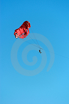 People Parasailing Against A Clear Blue Sky Stock Images - Image: 23034404