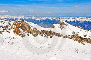 Austrian Alps Ski Slope Landscape Stock Photo - Image: 23035350