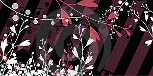 Flowers On Diagonal Lines Royalty Free Stock Photography - Image: 23037177