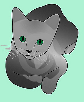 Russian Blue Kitten Royalty Free Stock Photos - Image: 23045998