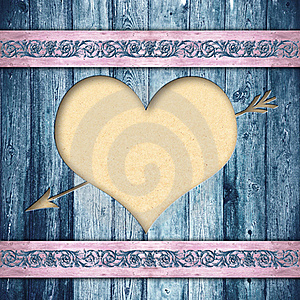 Wooden Boards With Heart Stock Image - Image: 23047341