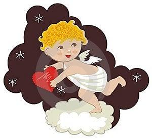 Cute Cupid Royalty Free Stock Photos - Image: 23050058