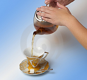 Tea Being Poured Royalty Free Stock Image - Image: 23054696