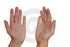 Woman's Palm Royalty Free Stock Photos - Image: 23056408