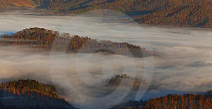 Appalachian Mountains At Sunrise And Clouds Stock Image - Image: 23063771