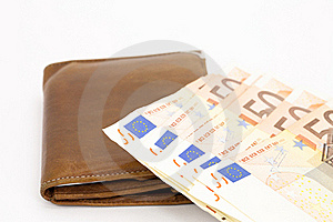 Wallet With Cash Royalty Free Stock Photos - Image: 23064188