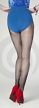 Standing Legs In Pantyhose And Black Heels Stock Images - Image: 23065964