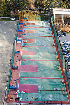 Outdoor Basketball Court Stock Photo - Image: 23066110