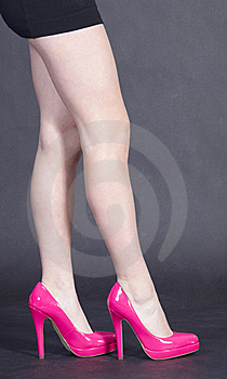 Woman's Legs In Heels Royalty Free Stock Image - Image: 23066266