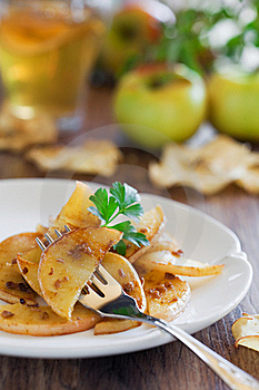 Apples With Anchovies Royalty Free Stock Image - Image: 23066386