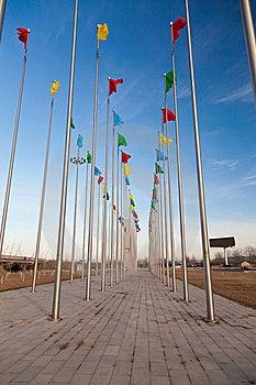 Flying Flag Royalty Free Stock Photography - Image: 23067447