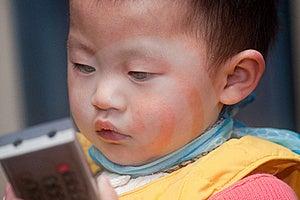 Children's Indoor Portrait Stock Image - Image: 23067481