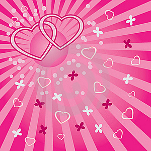 Background With Hearts And Butterflies. Royalty Free Stock Photography - Image: 23069857
