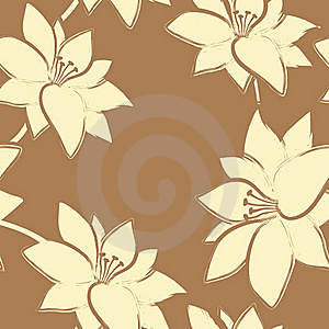 Vector Floral Seamless  Pattern. Stock Photos - Image: 23077373