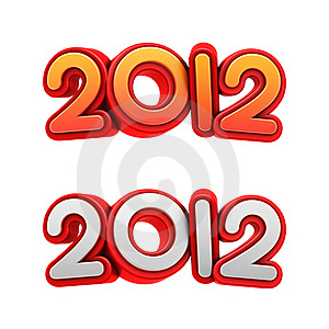 New Year 2012. Stock Photography - Image: 23079442