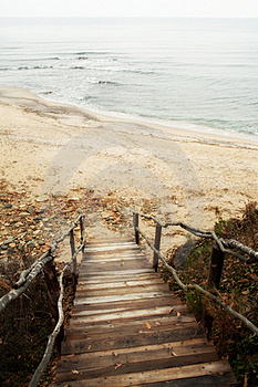 Stairs To Sea Stock Images - Image: 23079474