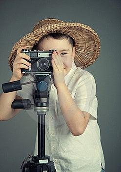 Boy With Camera Stock Photos - Image: 23083173