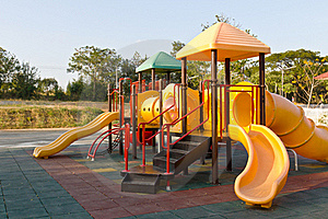 Children Playground In Park Royalty Free Stock Photo - Image: 23093075