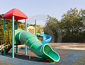 Children Playground In Park Royalty Free Stock Image - Image: 23093146