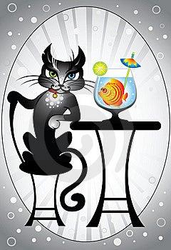 Cat And Fish Stock Photo - Image: 23095890
