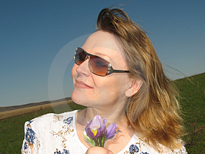 Woman With Flowers Stock Photos - Image: 2311613
