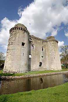 Castle And Moat Stock Photo - Image: 2312640
