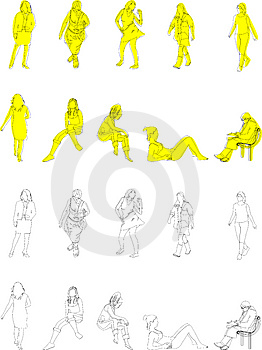 Women Illustrations Royalty Free Stock Photos - Image: 2314748