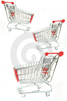 Empty Shopping Trolley Stock Photo - Image: 23112310