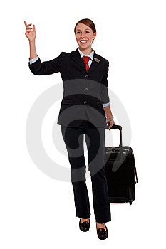Flight Attendant Hailing A Taxi Stock Photo - Image: 23123310