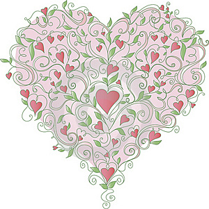 Heart With Floral Ornament, Vector Illustration Stock Photo - Image: 23126760